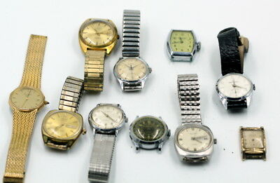 Lot Of 10 Vintage Mens Mechanical Wristwatches Various Brands No Reserve #504