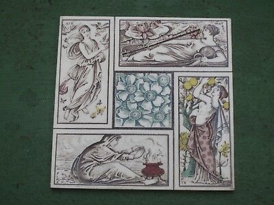 Old Victorian Tile (The Seasons) circa.1900