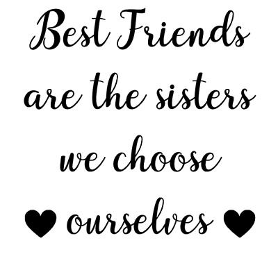 Best Friend Are Sisters Vinyl Decal Sticker Box Ribba Frame Gift Photo Frame DIY