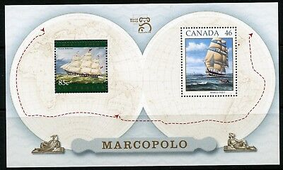 Weeda Canada 1779a VF MNH S/S, Australia Marco Polo joint 1999 issue CV $3.50