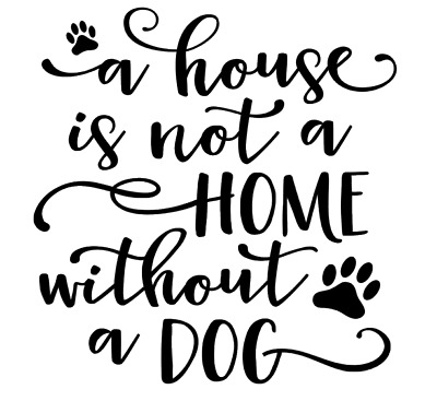 Home Without A Dog Vinyl Decal Sticker Box Ribba Frame Gift Photo Frame DIY