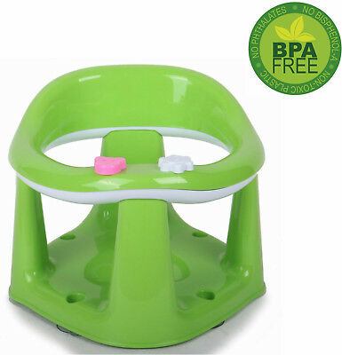 Green Kids Chair Infant Baby Support Seat New Toddler Bath Play Eat Food Bathing