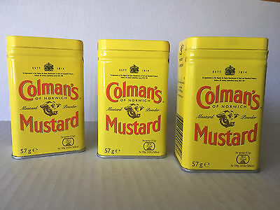 Colman's Dry Mustard - PACK OF 3 -- 2 Ounce Tins with Free Shipping