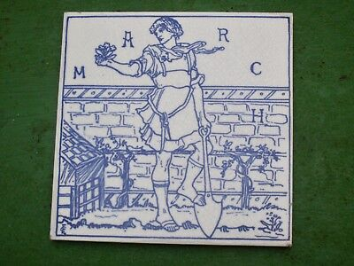 "Arts & Crafts Tile ....""MARCH ""  By Craven Dunnill  circa.1880"