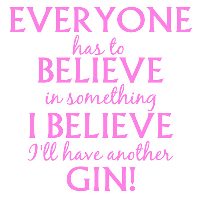 I'll Have Another Gin Quote Decal Vinyl Sticker Box Ribba Frame DIY Canvas