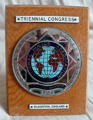 Ipa International Police Association Plaque Insigne Medaille Original Collector