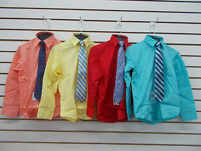 Boys Nautica $32 Assorted Dress Shirts w/ Clip-On Ties Size 8 - 20