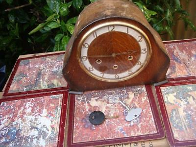 Vintage Smith  Westminster  Mantle Clock  For  Restoration Spare  /  Repair