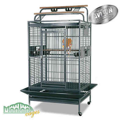 Cage Hacienda Play pour Perroquets - Montana - Anthracite
