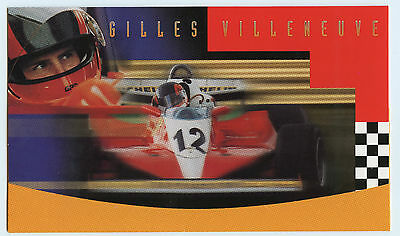 Weeda Canada 1648b VF mint NH Gilles Villeneuve 1997 Souvenir Sheet folder CV$13