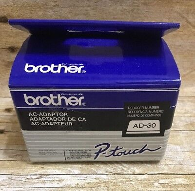 New Genuine OEM Brother AC-Adaptor P-Touch Model AD-30 USA Adapter Power Cord