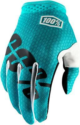 100% Guantes Itrack Yth Teal Md Talla M