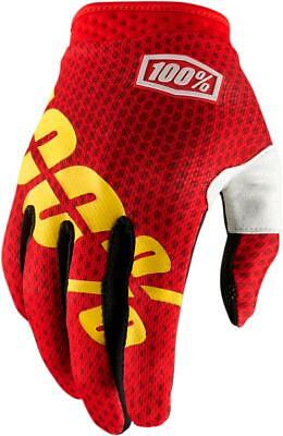100% Guantes Itrack Fire Red Md Talla M