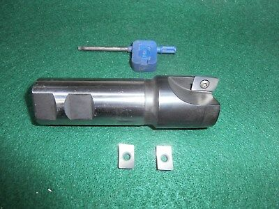 NOS 1.5 Inch Diameter ISCAR HELIMILL Insertable Carbide End Mill + New Inserts