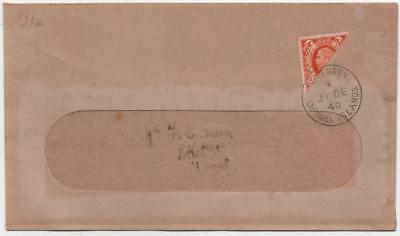 GUERNSEY: 1940 2d Bisect Example on Window Cover - Guernsey Cancel (13729)