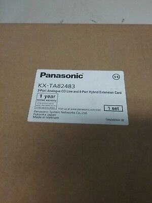 Panasonic Kx-Ta82483 3Port Analog Co And 8Port Hybrid Extension Card