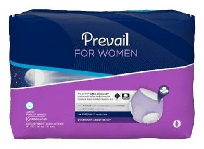 Prevail For Women Underwear, LARGE, Overnight Absorbency, PWX-513 - Pack of 16