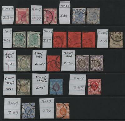 HONG KONG: Treaty Ports - Amoy - Ex-Old Time Collection - Album Page (13999)