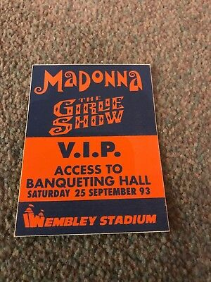 Madonna Ticket Pass For Girlie Show Tour Opening Night At Wembley Sept 25 1993