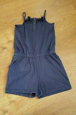 Girls Navy Playsuit! Ages 7 - 8 Years!