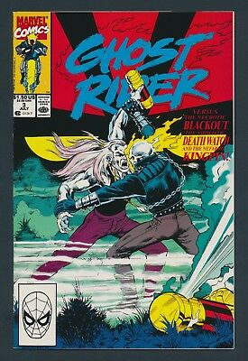 Marvel Comics Ghost Rider #3 1990 - 1St Appearance Blackout - Solid Copy!!