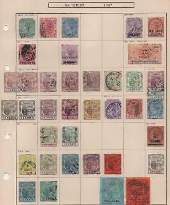MAURITIUS: 1885-1904 Examples - Ex-Old Time Collection - Album Page (14171)