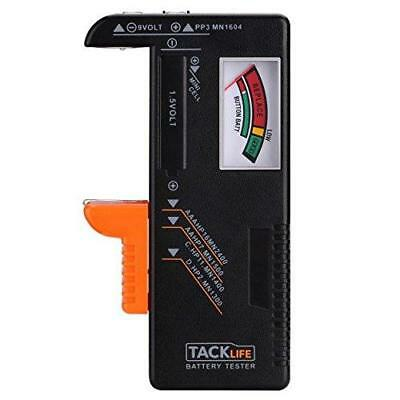 Tacklife Battery Tester MBT01 Classic Universal Checker for 9V 1.5V AA, AAA,...