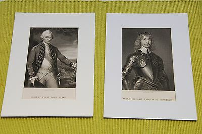 19th Century EngravingsRobert, First Lord Clive/James Graham Marquis of Montrose
