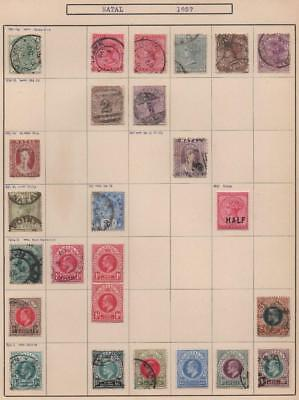 NATAL: 1882-1908 Examples - Ex-Old Time Collection - Album Page (14164)