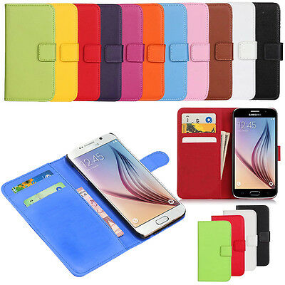 Leather Card Holder Book Flip For Samsung Galaxy S6 Case Cover Magnetic Wallet