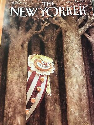 THE NEW YORKER magazine. Oct,30,2017. 'October Surprise' Cover