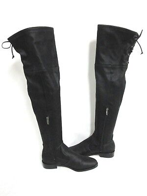 f083414a18b New Vince Camuto Womens CRISINTHA Leather Closed Toe Knee Boots Black Size   6.5