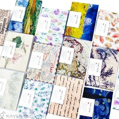 RayLineDo® 48pcs Cute Lovely Parchment Paper Envelopes (15*11cm) Different Styl