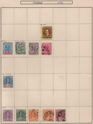 SARAWAK: 1892-1923 Examples - Ex-Old Time Collection - Album Page (14113)