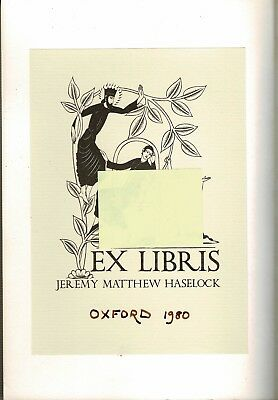 Eric Gill 'erotic' Bookplate In Pb Oxford By Jan Morris