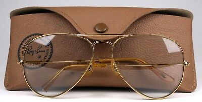 Vintage Ray Ban Bausch & Lomb Aviator Sunglasses Shooting Glasses & Case