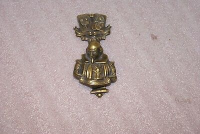 Vintage Brass Cast Metal Shakespeare Door Knocker