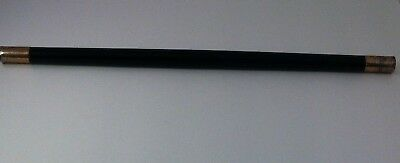 Antique Ebony & Silver 1879 Harvard Class Day Commemorative Baton Memorabilia