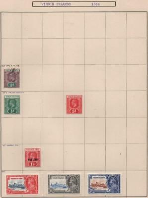 VIRGIN ISLANDS: 1904-1935 Examples - Ex-Old Time Collection - Album Page (14145)