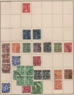 ZANZIBAR: 1921-1936 Examples - Ex-Old Time Collection - Album Page (14146)