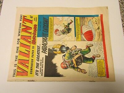 A Vintage - Valiant Comic - 16Th May 1964 - Good Readable Condition For Age