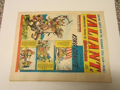A Vintage - Valiant Comic - 18Th April 1964 - Good Readable Condition For Age