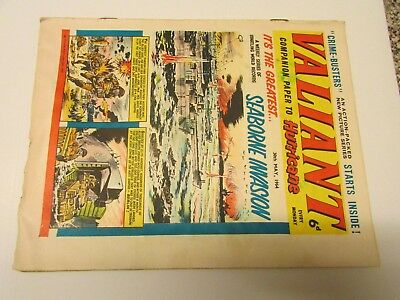 A Vintage - Valiant Comic - 30Th May 1964 - Good Readable Condition For Age