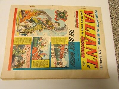 A Vintage - Valiant Comic - 4Th April 1964 - Good Readable Condition For Age