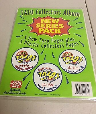 Tazo Collectors Album pages Includes 5 plastic inserts and Pages New Old Stock