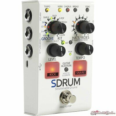 DOD SDRUM Strummable Drums Pedal Drum Machine for Guitar and Bass Players
