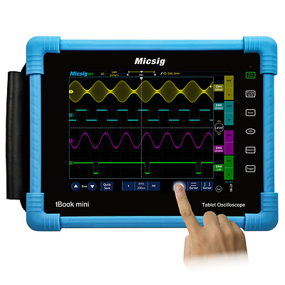 Micsig Tablet Oscilloscope 100MHz 4CH 1GSa/s tBook TO1104 Free Serial Decode 1
