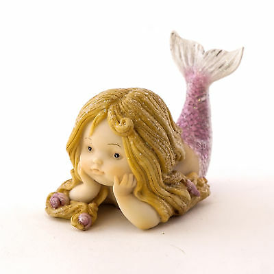 Miniature Dollhouse FAIRY GARDEN - Little Mermaid with Purple Tail - Accessories