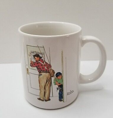 Norman Rockwell Mug 1987 Closed for Business
