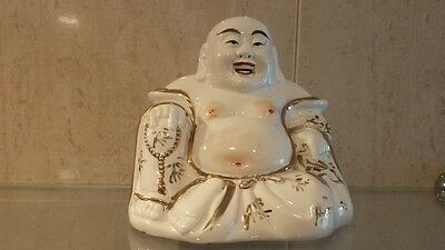 beautiful figure buddha Chinese porcelain with gold thread
